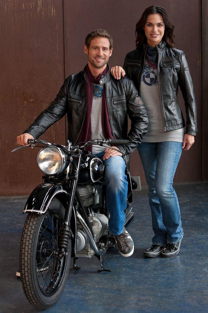 Blouson cuir moto bmw