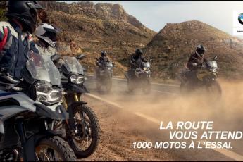 La route vous attend. Démarrez la saison avec 1000 motos BMW Motorrad à l'essai.