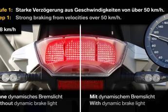 Nouveauté 2015 BMW moto : le feu stop dynamique