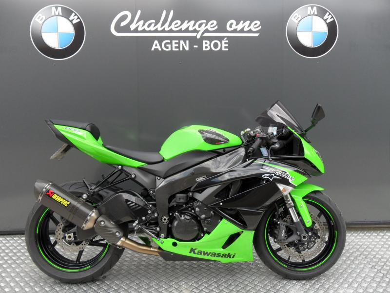 motos d 39 occasion challenge one agen kawasaki zx6 r 2012 akrapovic. Black Bedroom Furniture Sets. Home Design Ideas